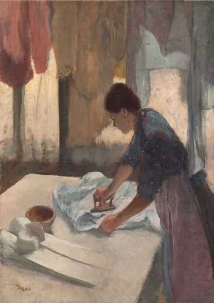 Degas, Edgar: Woman Ironing. Fine Art Print/Poster. Sizes: A4/A3/A2/A1 (003779)